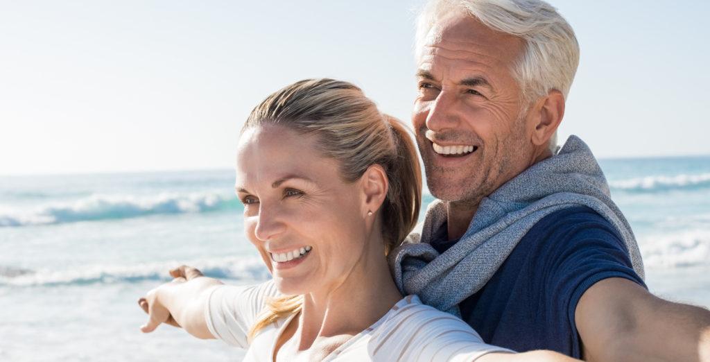 mature couple enjoying life